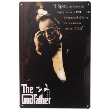 The Godfather English Quotes Life Movie signs Tin Plates