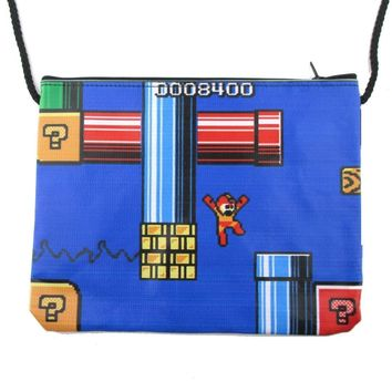 Mega Man Rockman Capcom 8-Bit Game Print Rectangular Shaped Cross Body Bag