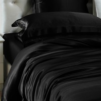 Black Silk Duvet Cover