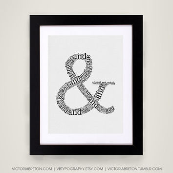 And Symbol (&) - 11x17 typography print - ampersand typography poster - modern art print - inspirational wall decor