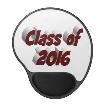 Class of 2016 3D Gel Mouse Pads, Burgundy Gel Mouse Pad