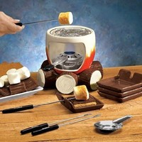 S'MORES MAKER COMPLETE SET (INCLUDES: SMORES MAKER, STEEL GRILL, FUEL HOLDER, FLAME SNUFFER, 4 FORKS AND 4 PLATES!), Garden, Lawn, Maintenance
