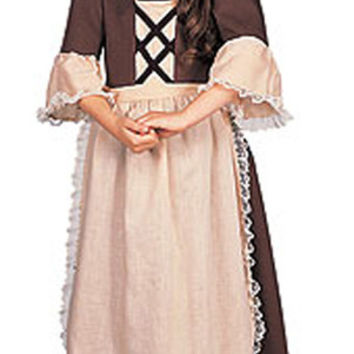Girl's Costume: Colonial Girl | Small