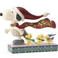Jim Shore Peanuts - Skate Mates - Ice Skating Snoopy w/Friends - 4052718