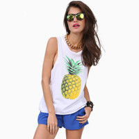 Women Pineapple Dreamin Tank Top Shirt