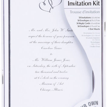 sweet hearts invitation kit 50/pkg
