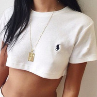 RL Polo Crop Top