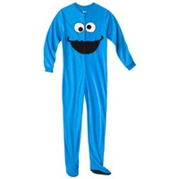 Sesame Street® Women's Cookie Face Footie - Blue