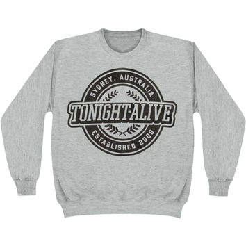 Tonight Alive Men's  Crest Sweatshirt Grey Rockabilia