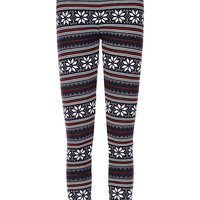 Snowflake Fleece Leggings | IWEARSIN