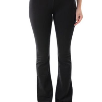 T-Party Fold Over Waist Yoga Pants