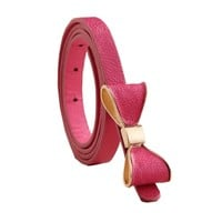 Women's Colorful Bow Leather Belt