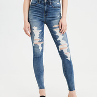 AE Ne(X)t Level High-Waisted Jegging , Destroy Your Blues