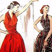 Retro 1952 Evening Gown Dress Pattern Misses Size 6 8 10 12 Butterick UNCUT