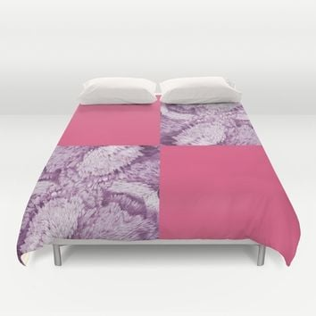 Season of the Square - Symmetry in Light Red Duvet Cover by michael jon