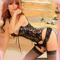 Ladies Sexy Lace Lingerie Nightwear Sleepwear Sexy underwear  Set the Top + G String