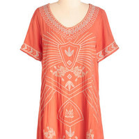 ModCloth Boho Long Short Sleeves Glowing All Out Tunic