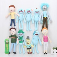 17-30cm Rick and Morty plush toys Happy Sad Foamy Meeseeks Stuffed Plush Toys Dolls Mr. Poopybutthole Mr. Meeseeks stuffed toy