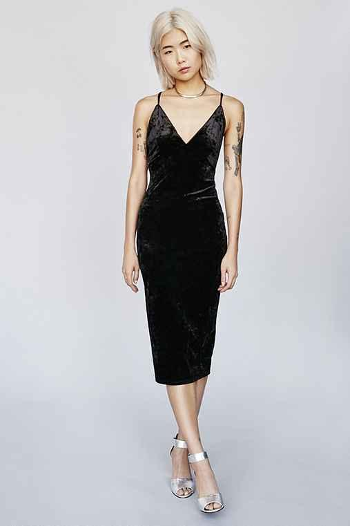 6abbe2d7fb80 Ophelia Crushed Velvet Bodycon Dress from Urban Outfitters