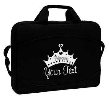 "Personalized Princess -Name- Design 15"" Dark Laptop / Tablet Case Bag by TooLoud"