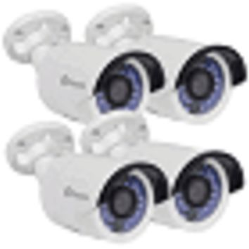 (4-Pack) Swann CONHD-A3MPB4-US 3MP Indoor/Outdoor Bullet IP Security Network Cameras w/30IR LEDs & 115' Night Vision