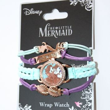 Licensed cool Disney The Little Mermaid Ariel Kiss The Girl Watch 4 Pack wrap Bracelet Set NWT