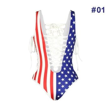 USA Stars and Stripes  Swimsuit