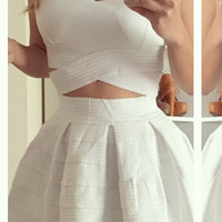 In My Dreams Bandage Dress - White