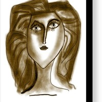 Picasso Woman O5 Canvas Print / Canvas Art by Bill Owen