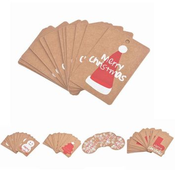 50Pcs Kraft Paper Hanging Tags Card Christmas Ornaments