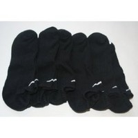 Nike Men`s Performance Moisture Wicking No Show Socks 6 Pair - Shoe Size: 8-12 - Black $25.48