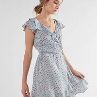 Pins And Needles Ruffle Wrap Mini Dress   Urban Outfitters