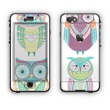 The Crazy Cartoon Owls Apple iPhone 6 LifeProof Nuud Case Skin Set