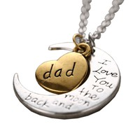 Heart & Moon Dad Necklace