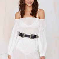 B-Low the Belt Bri Bri Leather Belt - Silver