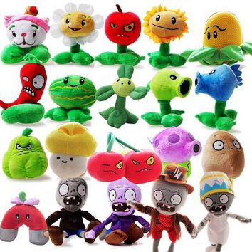 20pcs/set Plants vs Zombies Stuffed Plush Toys Fashion Game PVZ Soft Dolls for Kids Gifts Party Toys