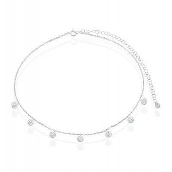 The Circle of Life Choker, Clear CZ