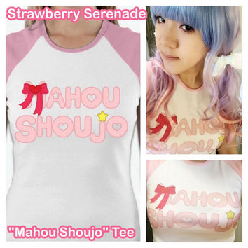 Magical Girl Mahou Shoujo Kawaii Womens Anime Manga Japanese Harajuku Fashion T-shirt Tee