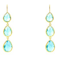 Gold Sterling Silver Drop Earring