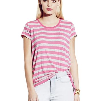 Vince Camuto Split Back Stripe Tee