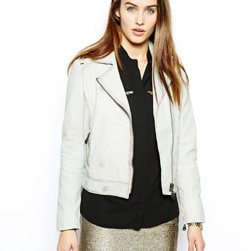 Doma Leather Biker Jacket With Studded Back