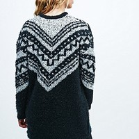 Staring at Stars Textured Print Cardigan in Mono - Urban Outfitters