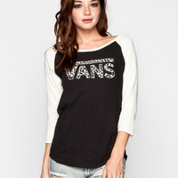 VANS Washed Leopard Womens Baseball Tee 239872100 | 90's Muse