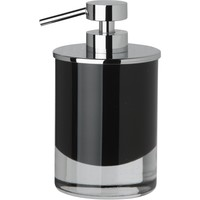 Black Glass Table Pump Liquid Soap Lotion Dispenser for Bathroom, Kitchen