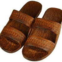 Pali Hawaii Classic Jesus Sandal (Brown, 10)
