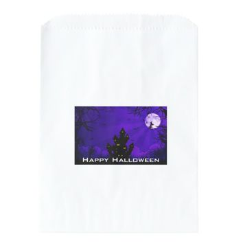 SPOOKY HAUNTED HOUSE HALLOWEEN FAVOR BAGS