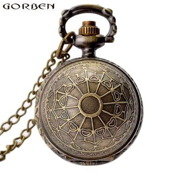 Retro Clock Harry Potter Necklace Pocket Watch Vintage Snitch Gold Ball Silver Bronze Fob Chain Watch Men Women relogio de bolso