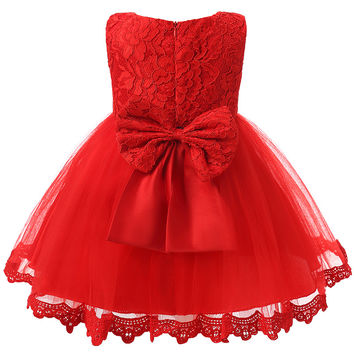 Toddler Girl Clothes 1st First Baby Girl Birthday Dress Clothing Infant Princess Party Baby Girl Dress For 3 6 9 12 18 24 Months