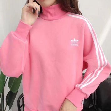 PEAPUF3 Adidas trefoil 2017 female fashion leisure sports sweater hoody
