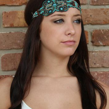 Suzanne - Pink Pewter Headband